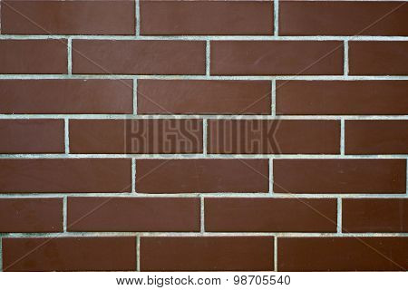 Wall Of Brown Brick