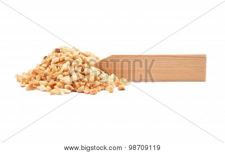 Minced Hazelnuts At Plate