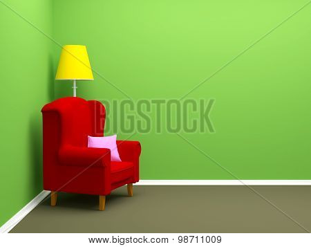 Armchair In Corner
