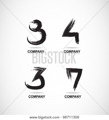 Grunge Letter Logo