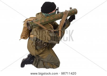 Fighter With Rpg Rocket Launcher