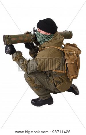 Terrorist  With Rpg Rocket Launcher