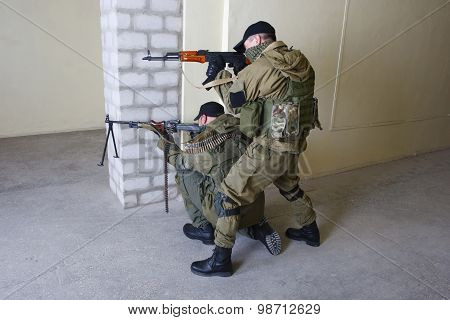Insurgents With Ak 47 Ang Rpd Gun