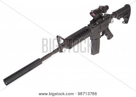 M4 Rifle With Silencer
