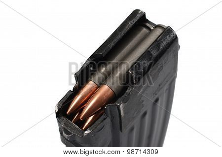 Ak 47 Gun Magazin (short) With Ammo