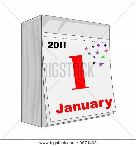 Happy New Year 2011, Calendar