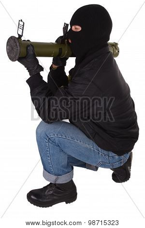 Gunman With Bazooka Grenade Launcher