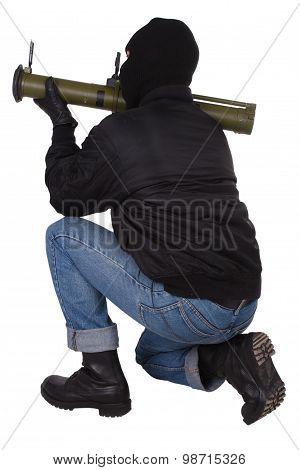 Terrorist With Bazooka Grenade Launcher