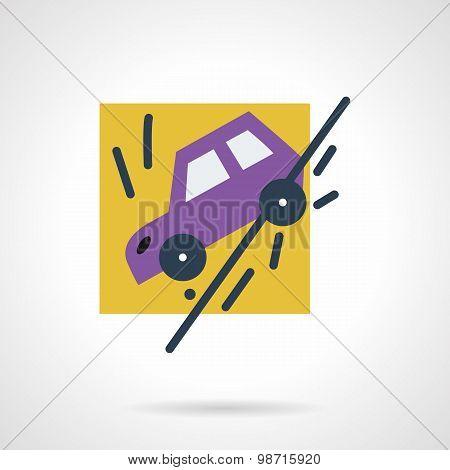 Auto accident flat vector icon