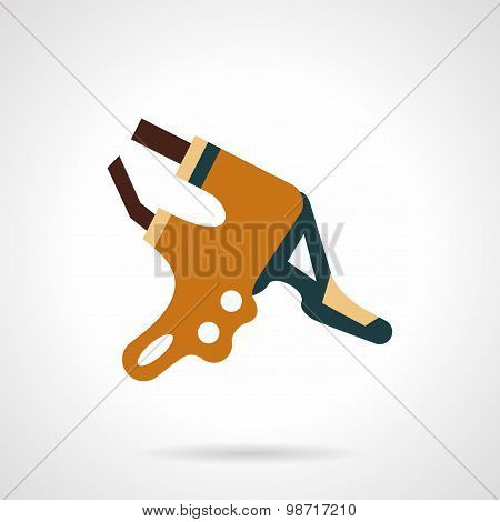 Bike brake lever flat vector icon