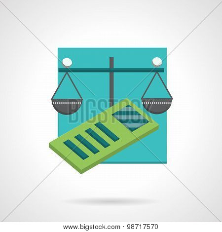 Accountancy abstract flat vector icon
