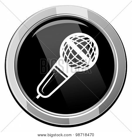 Microphone Vector Icon Isolated