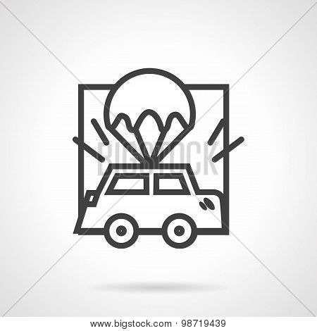 Abstract vector icon for car insurance