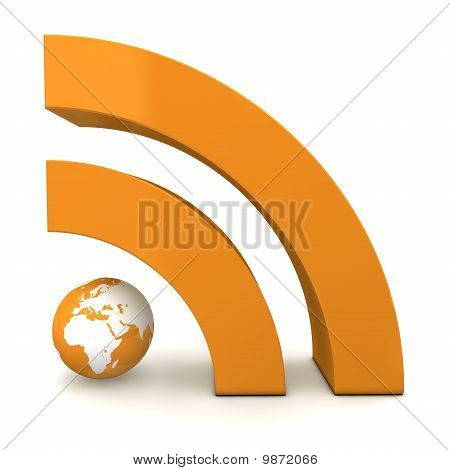 Rss Sign In Metallic Orange - Front View