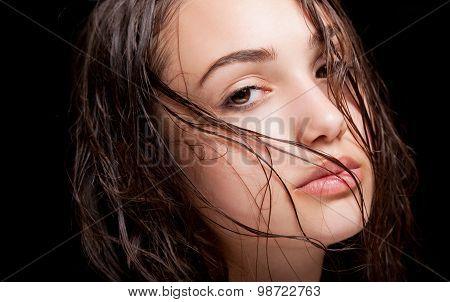 Wet Hair Beauty.