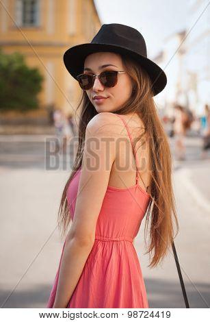 Fashionbale Brunette Woman.