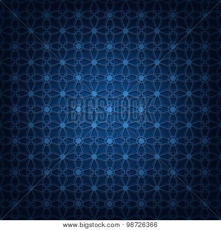 Vector illustration of abstract dark blue background.
