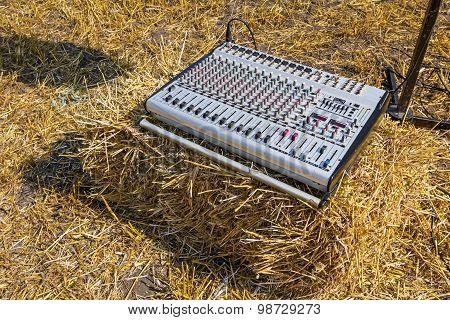 Sound Mixer Control Console.