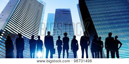 Business People Cityscape Building Business Metropolis Concept