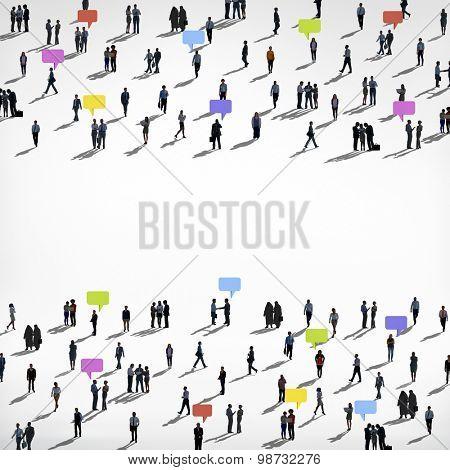Diversity People Commuter Communication Crowd Concept