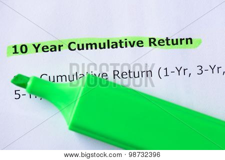 10 Year Cumulative Return