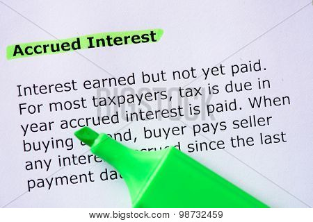 Accrued Interest