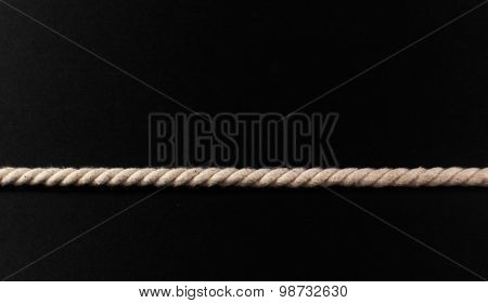 Single Length Of Taut White Rope