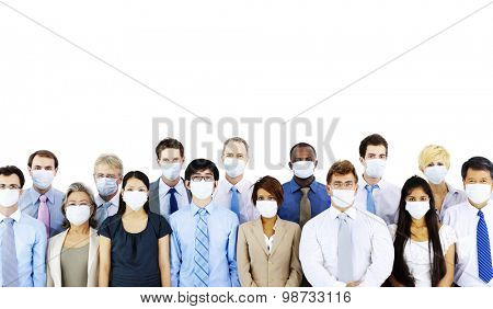 Business People Wearing Medical Mask Concept
