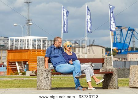 Gdynia. Tourists On The Waterfront.