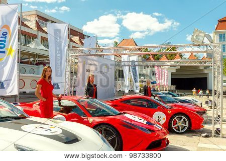 Sopot. Exhibition of racing cars.