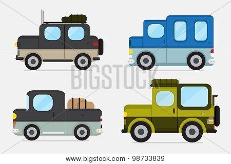 vector : cars off road .