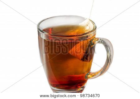 Tea Cup With Tea Bag