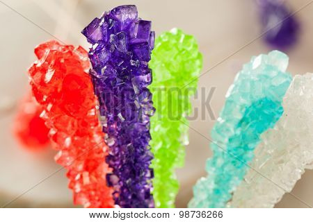 Sweet Sugary Multi Colored Rock Candy