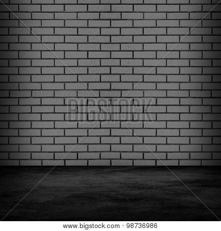 interior with brick wall background