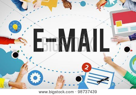 Email Connection Communication Technology Messaging Concept