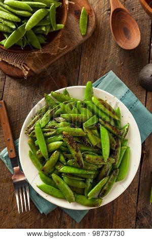 Homemade Sauteed Sugar Snap Peas