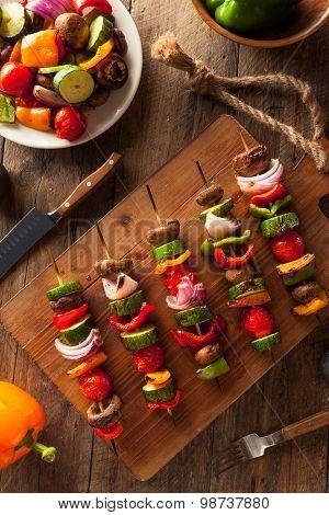 Organic Homemade Vegetable Shish Kababs