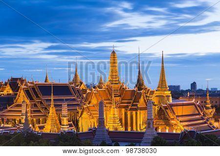 The Emerald Buddha,Grand palace at twilight in Bangkok