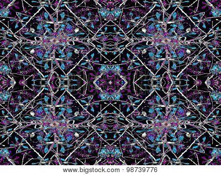 Geometric Luxury Floral Seamless Pattern
