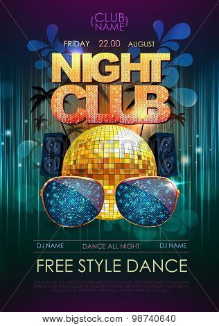 Disco Background. Disco Party Poster