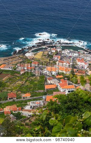 View Over Porto Moniz Village, Madeira Island, Portugal