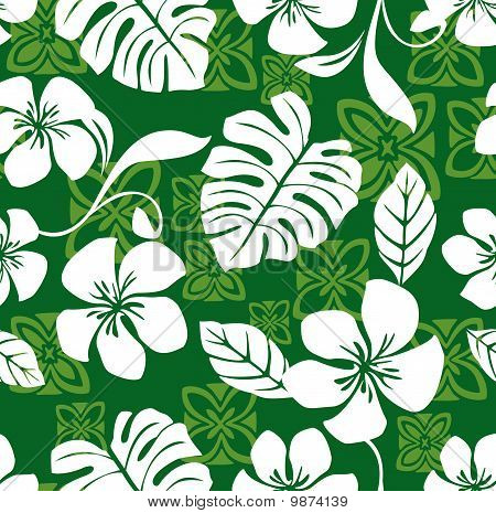 Seamless Aloha Friday Hawaiian Shirt Pattern