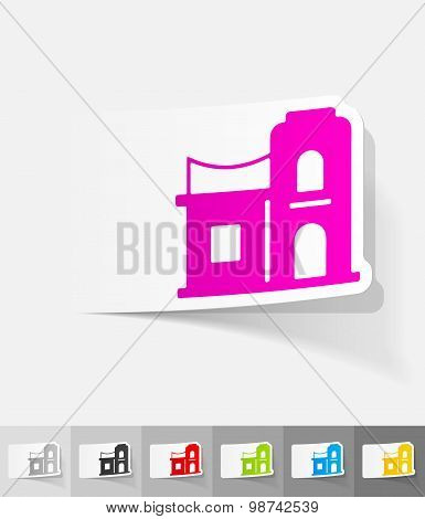 realistic design element. arabic house