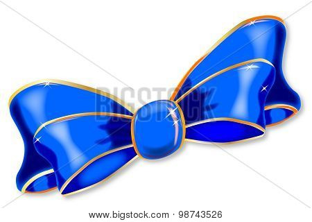 Blue Silk Bow
