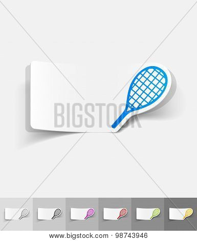 realistic design element. tennis racket