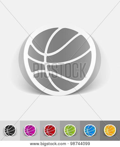 realistic design element. basketball