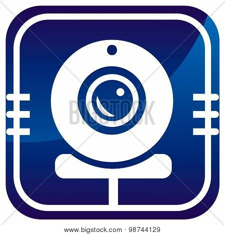Webcam Blue Icon
