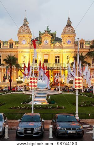 Monte Carlo Casino At Dusk