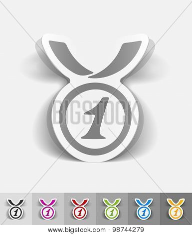 realistic design element. medal