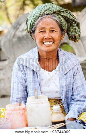 Street Food In Mingun, Myanmar